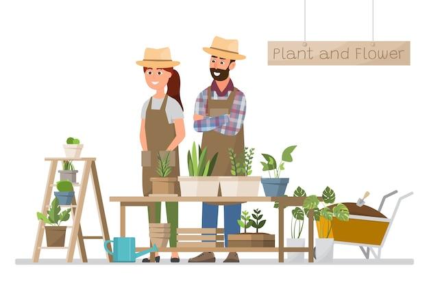 Blumen- und pflanzenfloristengeschäft