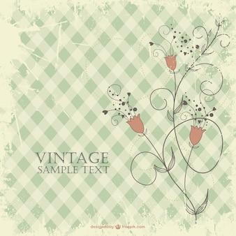 Blumen vintage-design