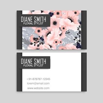 Blumen visitenkarten rosa blumen