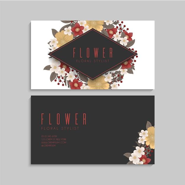 Blumen visitenkarten rote blumen