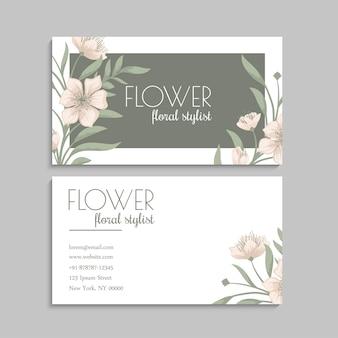 Blumen visitenkarten vorlage