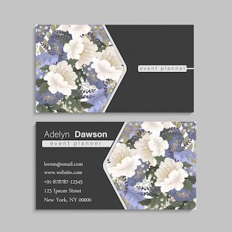 Blumen-visitenkarten