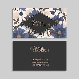 Blumen visitenkarten