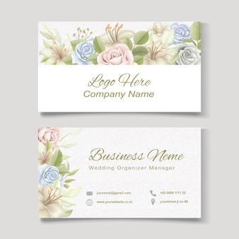 Blumen visitenkartenvorlage