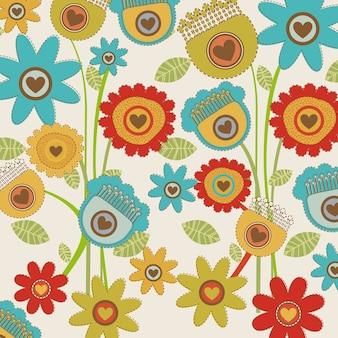 Blumen-wandteppich