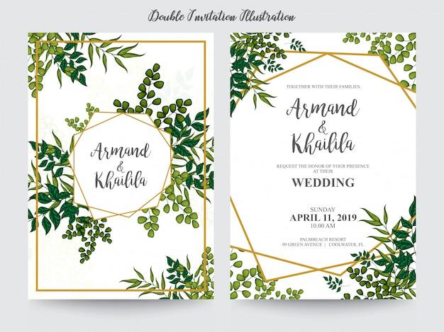 Blumenaquarell für einladungsdesignillustration