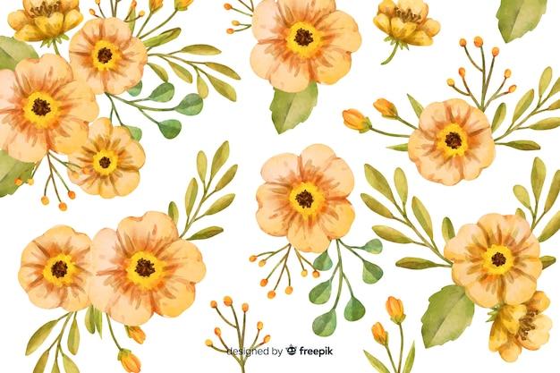 Blumenaquarellhintergrund mit weichen farben