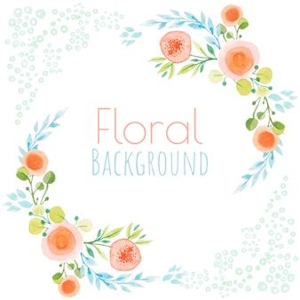 Blumenaquarellhintergrund