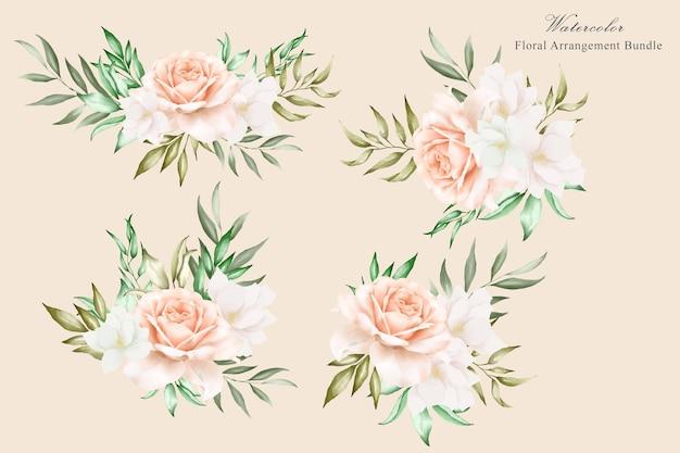 Blumenarrangement gesetzt