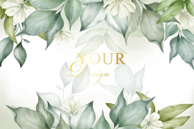 Blumenarrangement mit aquarellhintergrundschablone