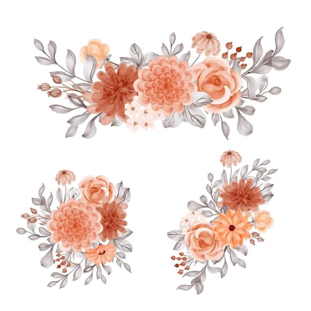 Blumenarrangement mit blumenorange für den herbst