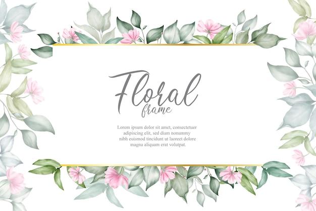 Blumenarrangementhintergrund für hochzeitseinladung