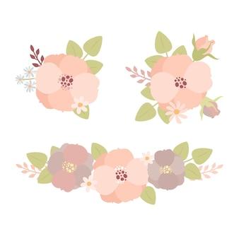 Blumenarrangements gesetzt
