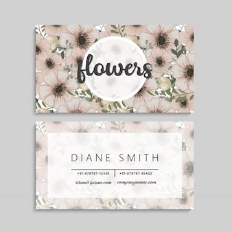 Blumenart visitenkarteschablonenvektor