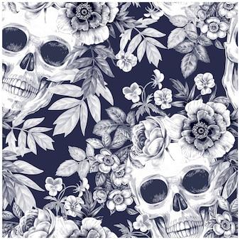 Blumenblätter-nahtloser muster-hintergrund