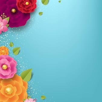 Blumenblauer hintergrund