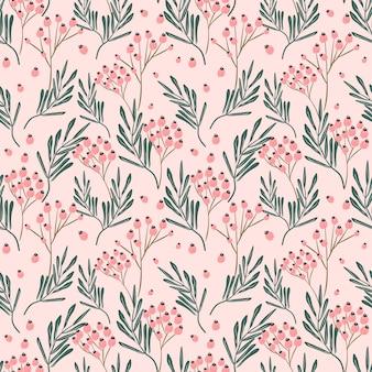 Blumenblumenhintergrund des nahtlosen musters, druckmusterrosa hübsch