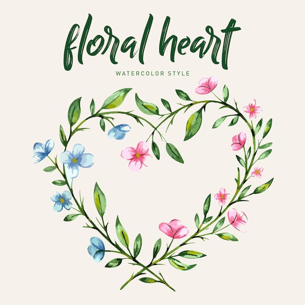 Blumenboquet-rahmen-aquarell-art geben frei