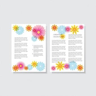 Blumenbriefkopf design