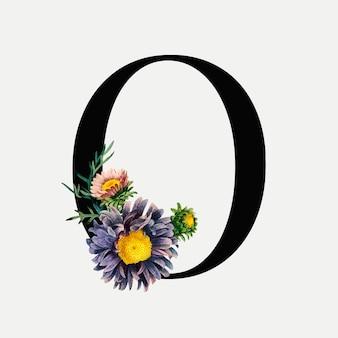 Blumenbuchstabe o.