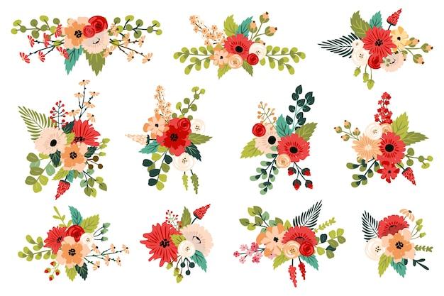 Blumendekorationen. frühlingssträuße