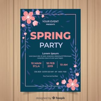 Blumeneckenfrühlings-partyplakat