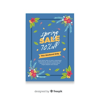 Blumeneckenfrühlingsverkaufsplakat