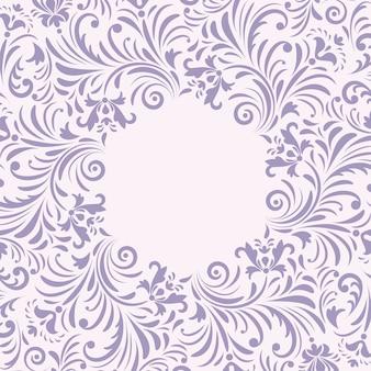Blumeneinladungskarte auf weißem hintergrund.