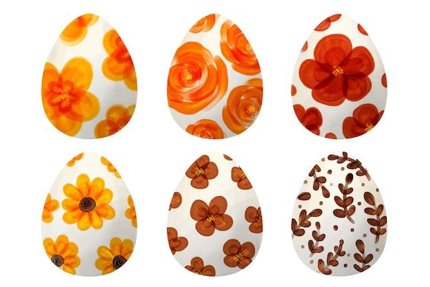 Blumenentwurf der ostereier-sammlung