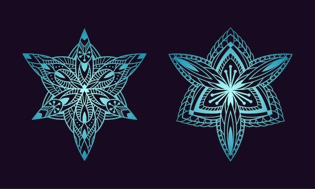Blumenfarbe der ethnischen steigung der mandalakunstverzierung