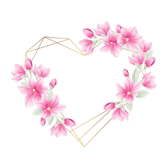 Blumenfeldhintergrund mit magnolienblumen
