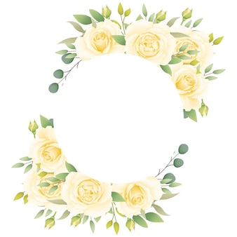 Blumenfeldhintergrund mit weißen rosen
