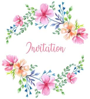 Blumenfrühlings-einladungshintergrund