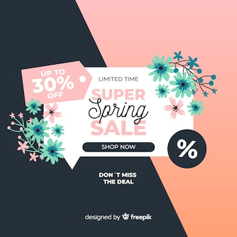 Blumenfrühlingsverkaufshintergrund