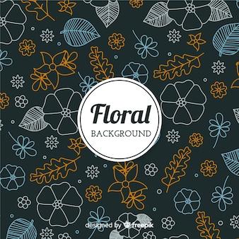 Blumengekritzelhintergrund