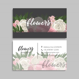 Blumengeschäftskarteschablonendesign