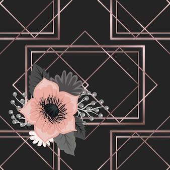 Blumengesteckvektormuster mit blumen und blättern