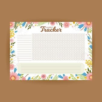 Blumengewohnheits-tracker-vorlage