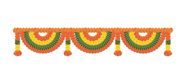 Blumengirlande oder toran oder ammer vektor es ist am hauseingang der tür zu binden auf diwali