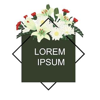 Blumengrün hintergrund vorlage text