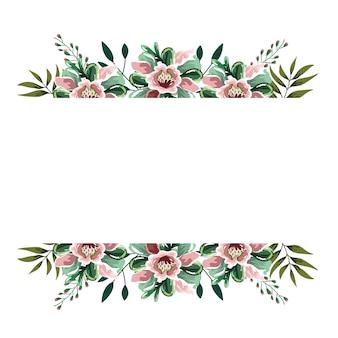 Blumengrünaquarellblätterkräuter