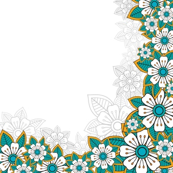 Blumengruß oder einladungskarte