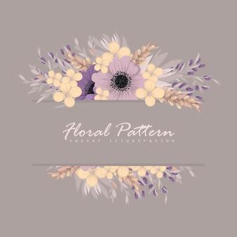 Blumengrußkartenschablone.
