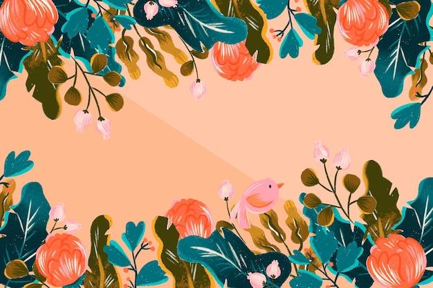 Blumenhand gezeichneter hintergrund
