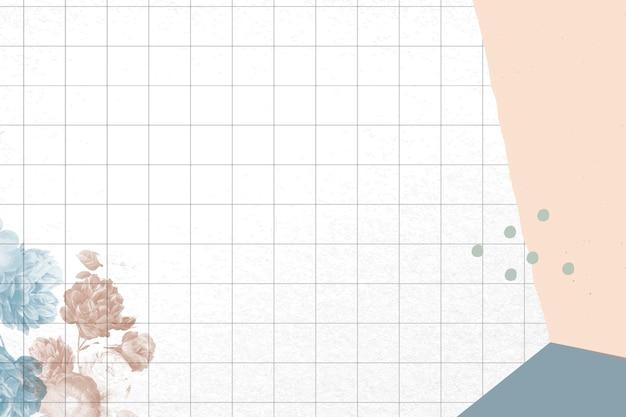 Blumenhintergrund abstrakter grenzvektor, neu gemischt aus vintage-public-domain-bildern