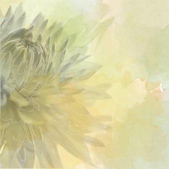 Blumenhintergrund auf weicher Pastellfarbe in der Unschärfeart