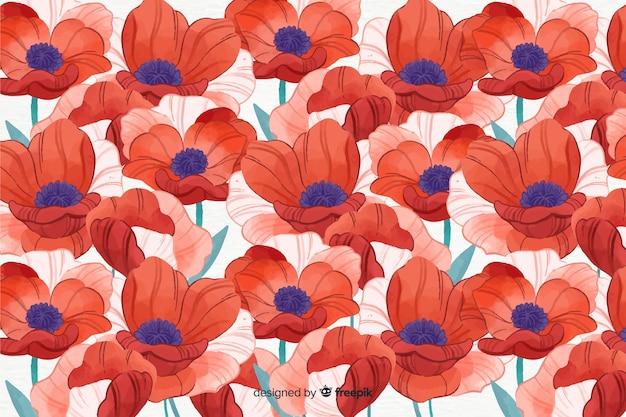 Blumenhintergrund der bunten aquarellart