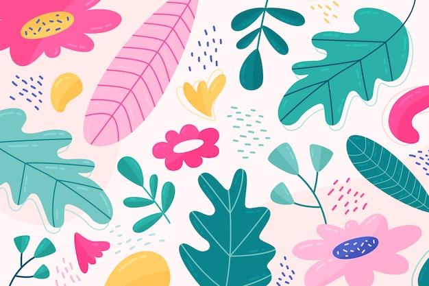 Blumenhintergrund der flachen designzusammenfassung