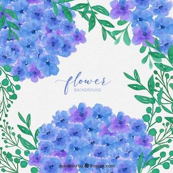 Blumenhintergrund des reizenden Aquarells