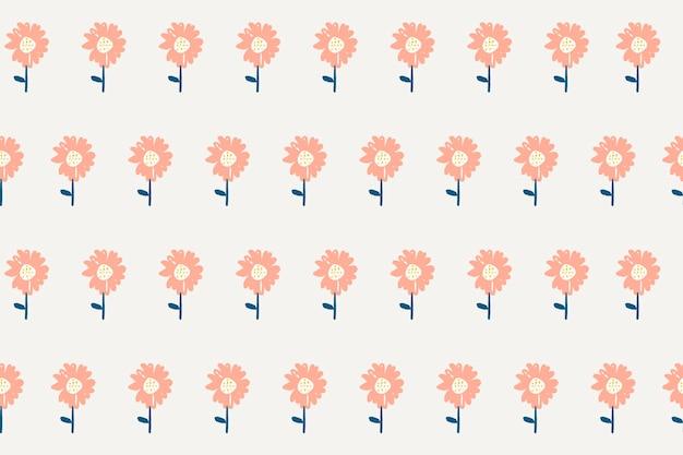 Blumenhintergrund-desktop-hintergrund, niedlicher vektor
